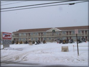 Snowmobiling From Bishop's Motel, Jackman, Maine